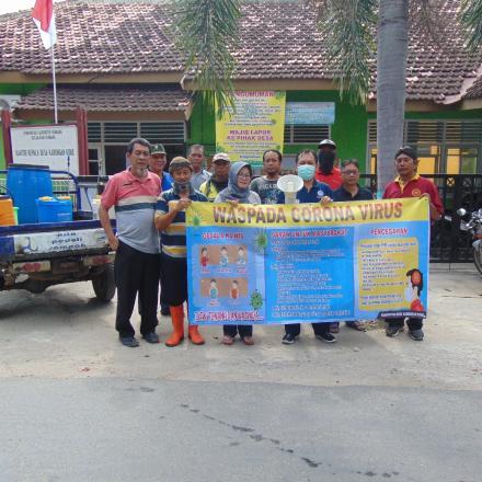 Penyemprotan Desinfektan sebagai Upaya Pencegahan Covid-19 di Desa Kabongan Kidul